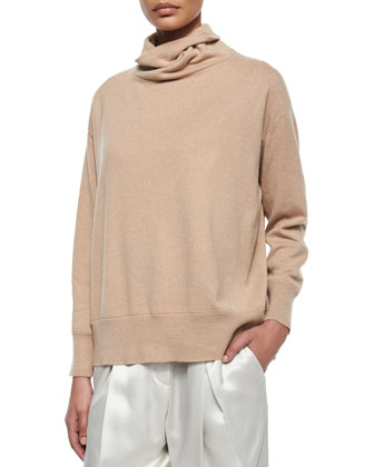 Cashmere Oversized Turtleneck Sweater