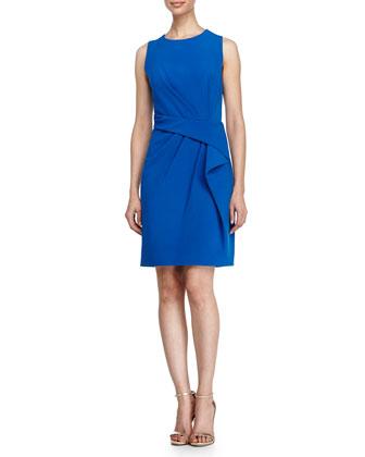 Ruffle-Front Dress, Sapphire