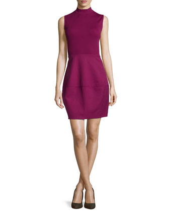 Ribbed Combo Dress, Boysenberry