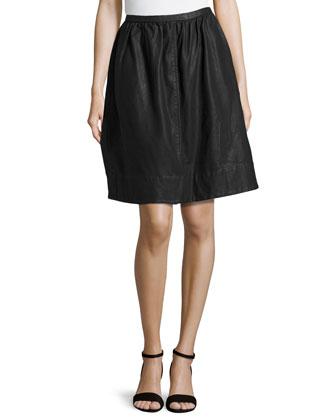 Full Knee-Length Skirt, Black