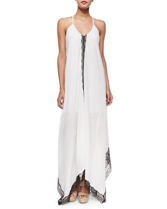 Rav Lace-Trim Handkerchief-Hem Dress, Cream
