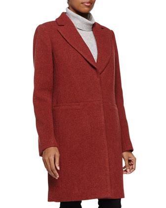 Two-Button Coat, Pomegranate