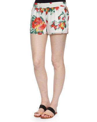 Isleta Silk Blazer, Fantina Braided-Collar Tank Top & Lanina Floral ...