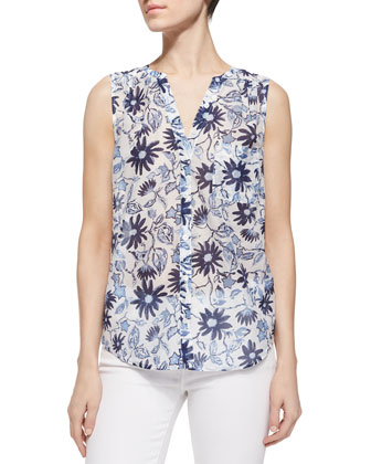 Jocelyn Daisy-Printed Sleeveless Top