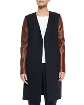 Quennel Compact Wool Jacket, Navy
