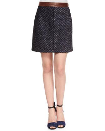 Lanitta Heighten Skirt, Navy Terracotta