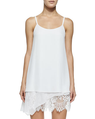 Lexi Layered Slip Dress, White