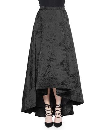 Kesten Floral-Jacquard Crop Top & Cohen Arched-Hem Jacquard Skirt
