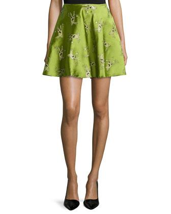 Circular Jacquard Skirt, Green Evil Tree