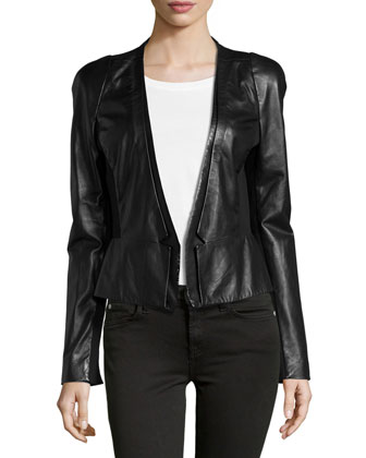 Leather Blazer, Black