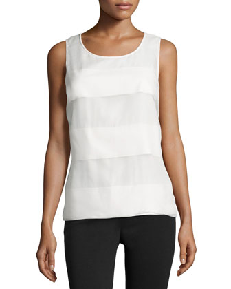 Wide-Stripe Tank Top, Off White