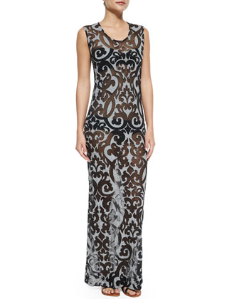 Printed Coverup Maxi Dress, Johnny D Bandeau Swim Top & Bill Low-Rise ...