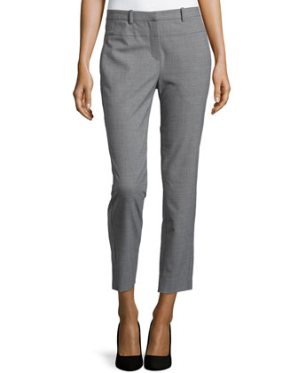 Skinny Tailored Pants, Heather Gray