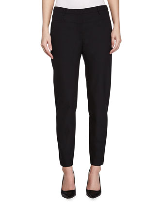 Skinny Suiting Pants, Black