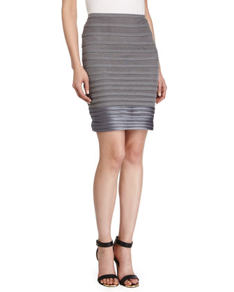 Tailor Pencil Skirt, Heather Gray