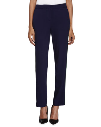 Colorblock Skinny Pants, Midnight/Black/Loden