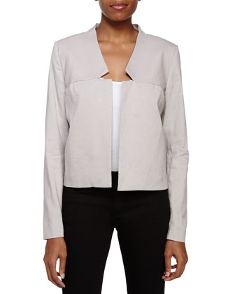 Cropped Open-Front Jacket, Flint