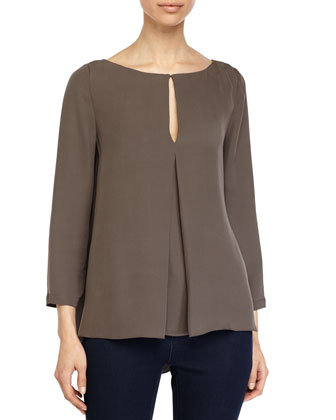Draped-Back Top, Lead