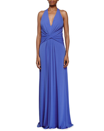 Crisscross Front Evening Gown, Bluebell
