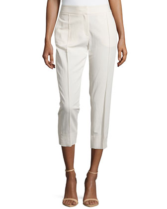 Skinny Ankle Pants, Cream