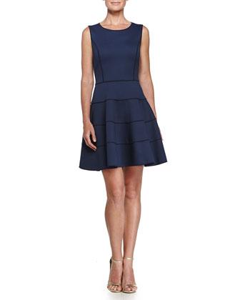 Fit & Flare Mini Dress, Navy
