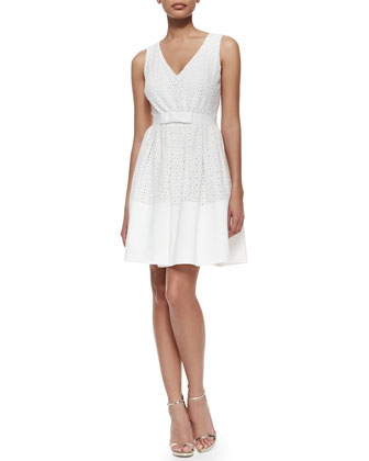 Dixie Eyelet Sleeveless Fit & Flare Dress