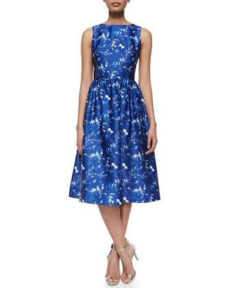 Bridgitte Sleeveless Floral Fit & Flare Dress