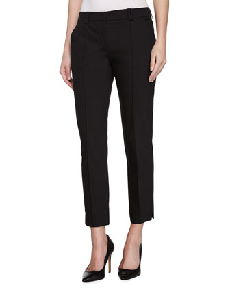 Skinny Leg Ankle Pants, Black