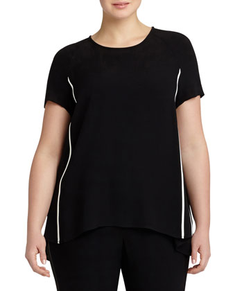 Kate Short-Sleeve Blouse, Women's