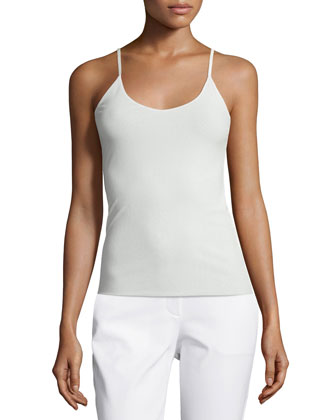 Jersey Camisole W/ Adjustable Straps, Cloud, Women's