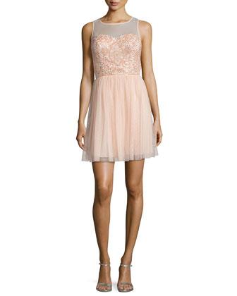 Beaded Party Dress, Blush