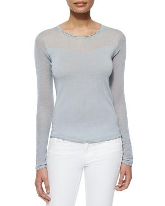 Luana Mesh-Long-Sleeve Sweater