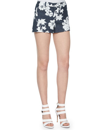 Kamila Floral-Print Shorts