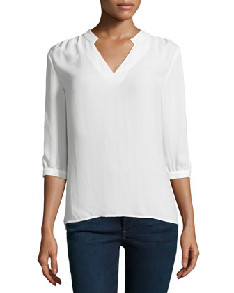 Relaxed-Fit Blouse, Chalk