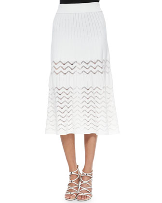 Vincent Short-Sleeve Zigzag-Stitch Top & Snyder A-line Skirt