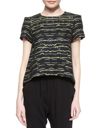 Laurette Short-Sleeve Printed Top & Polina Drawstring Pants
