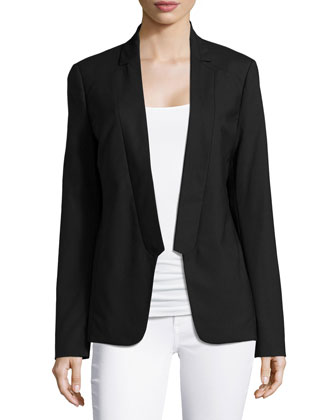 Long-Sleeve Suiting Jacket, Black