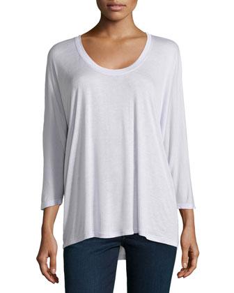 Three-Quarter-Sleeve Top, Freesia