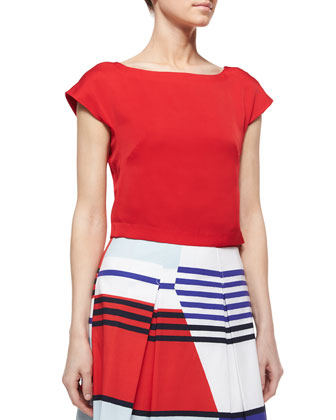 Sophia Crop Top & Marina Striped Pleated Skirt