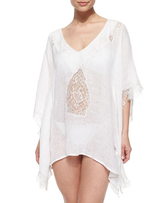 Tivoli Lace Short Tunic Coverup