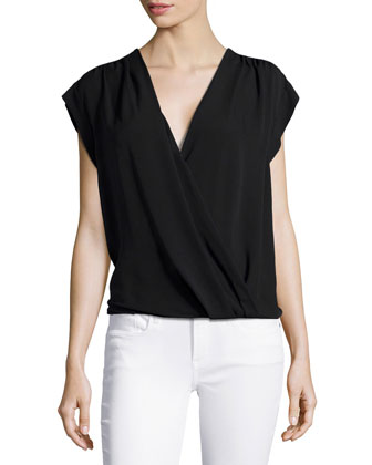 Wrap-Front Top, Black