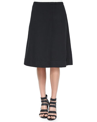 Organic Cotton A-line Skirt