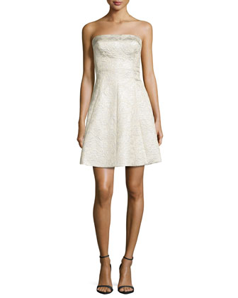 Strapless Cocktail Dress, Pearl