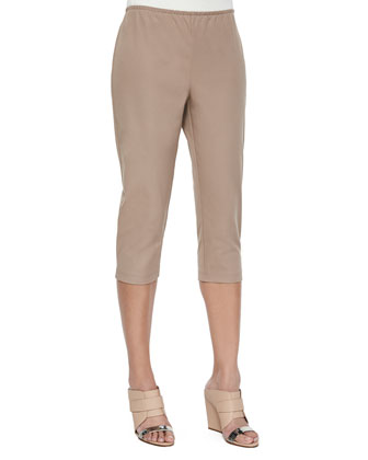 Organic Cotton Slim Capri Pants