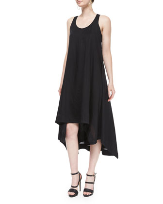 Fisher Project Sleeveless Twill Trapeze Dress
