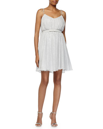 Fly Away Belted Dress, Dove