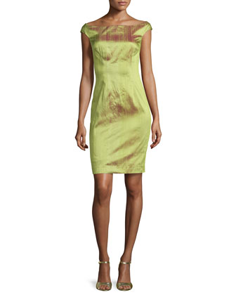 Iridescent Silk Dress, Green