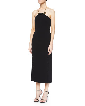 Strapless Midi Dress W/ Detachable Necklace