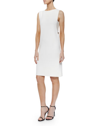 Sleeveless Side-Cutout Shift Dress