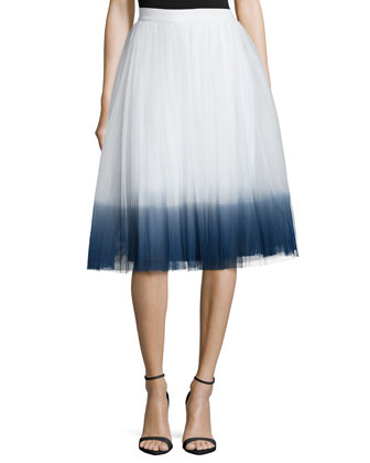 Sweet Pea Ombre Skirt, Chalk/Navy